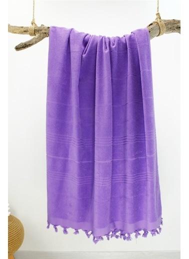Bedinn N 90 X 180 Cm Pamuk Ipliği Yıkanabilir Peştemal Havlu Lila